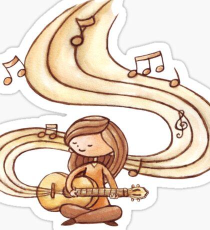 Music is Life Shirt Sticker