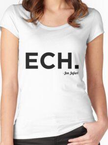 ECH Black Women's Fitted Scoop T-Shirt