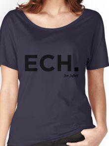 ECH Black Women's Relaxed Fit T-Shirt