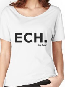 ECH Black Women's Relaxed Fit T-Shirt