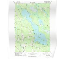 Maine USGS Historical Map Pushaw Lake 102901 1977 24000 Poster