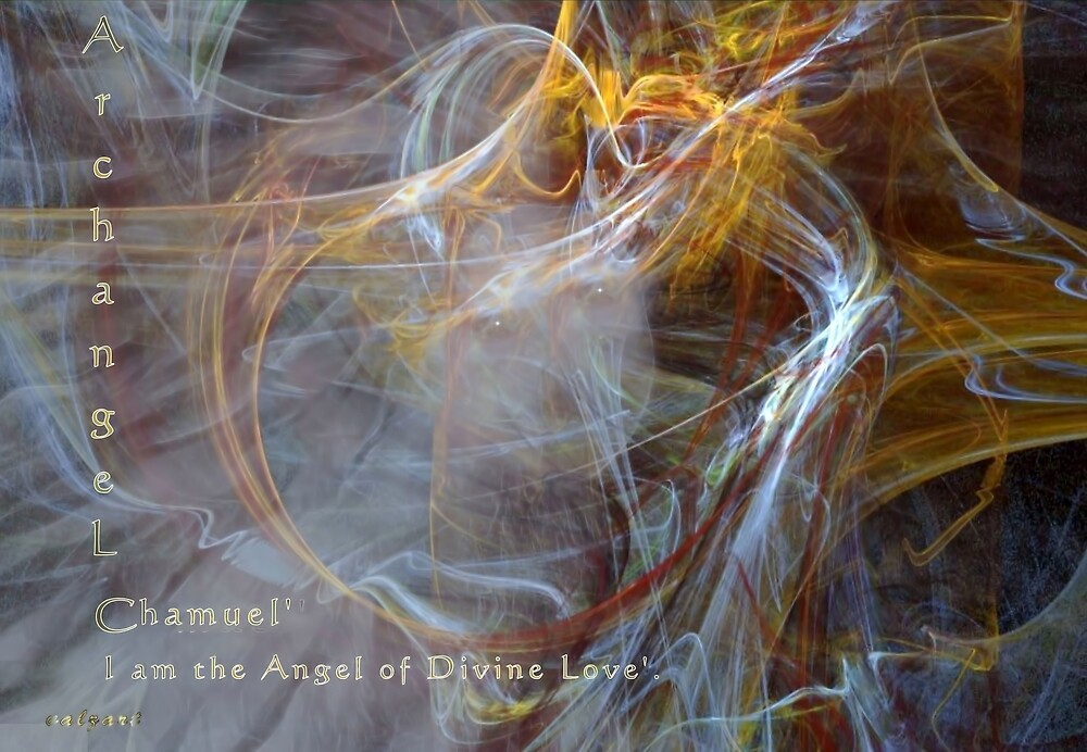Archangel Chamuel'... by Valerie Anne Kelly