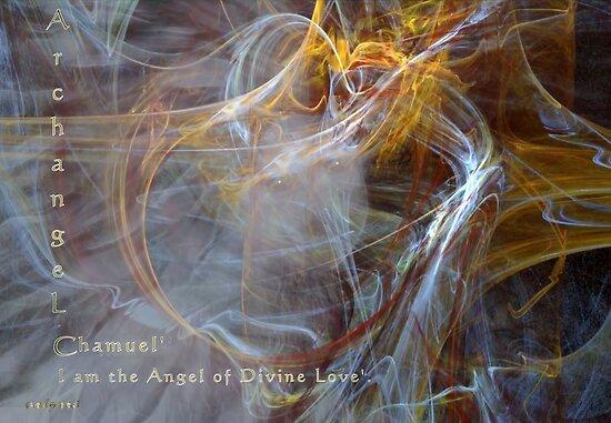 Archangel Chamuel'... by Valerie Anne Kelly