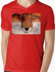 Fox Face Mens V-Neck T-Shirt