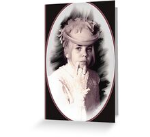 Victorian Young Lady Greeting Card