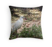 Water bird Throw Pillow