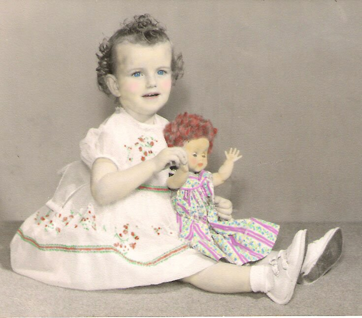 Me and my Dolly... aged 2 in 1959 by Geni29