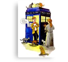 Cat Lady Companion Canvas Print