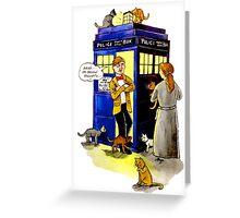 Cat Lady Companion Greeting Card