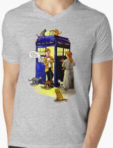 Cat Lady Companion Mens V-Neck T-Shirt