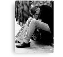 Homeless Hungry Canvas Print