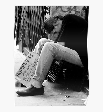 Homeless Hungry Poster