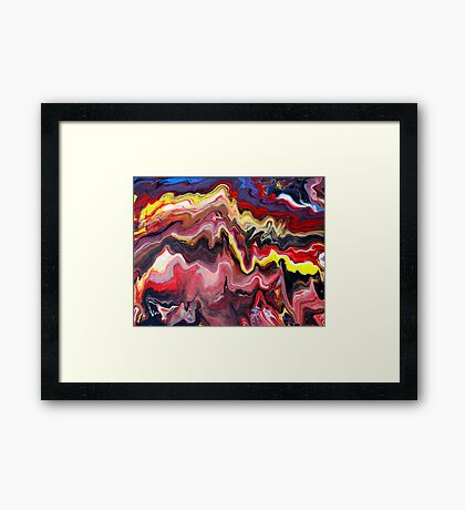 Abstract Acrylic Painting Effects Framed Print