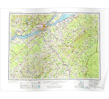 Maine USGS Historical Map Quebec 460787 1962 250000 Poster