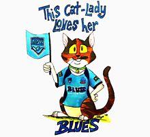 "SkyeCatz: ""This cat-lady love her Blues!"" Men's Baseball ¾ T-Shirt"