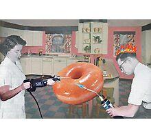 Man, Woman, Radioactive Donut Photographic Print