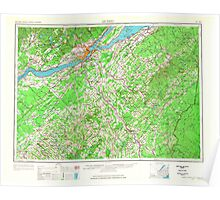 Maine USGS Historical Map Quebec 707540 1962 250000 Poster