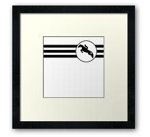 Equestrian Stripes Framed Print