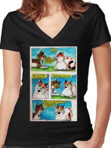 SkyeCatz: #1 Women's Fitted V-Neck T-Shirt