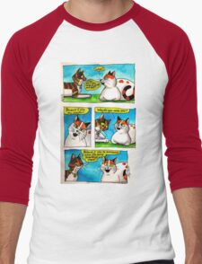 SkyeCatz: #1 Men's Baseball ¾ T-Shirt