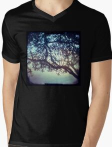 Sunset trees ttv photograph Mens V-Neck T-Shirt