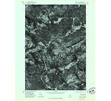 Maine USGS Historical Map Quill Hill 807080 1977 24000 Photographic Print