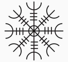 Helm of Awe (Ægishjálmr) Viking Symbol Kids Clothes