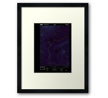 Maine USGS Historical Map Quill Hill 20110909 TM Inversion Framed Print