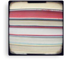 Red stripe books photograph Canvas Print