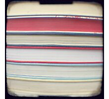 Red stripe books photograph Photographic Print
