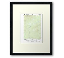 Maine USGS Historical Map Quill Hill 20110909 TM Framed Print