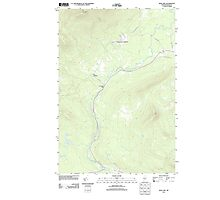 Maine USGS Historical Map Quill Hill 20110909 TM Photographic Print