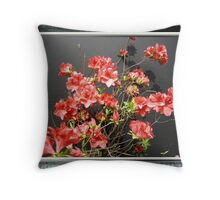 RED AZALEA Throw Pillow