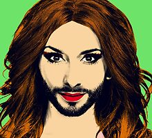 Conchita Wurst - Pop Art - Green version 1 by lockwie