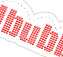 redbubble bounce Sticker