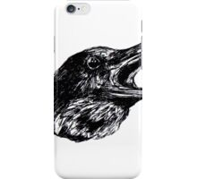 Crow asking iPhone Case/Skin