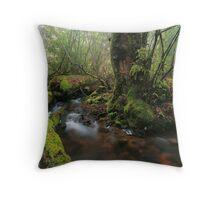 rainy rainforest  Throw Pillow