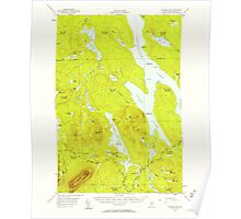 Maine USGS Historical Map Ragged Lake 460788 1954 62500 Poster