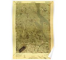 Maine USGS Historical Map Ragged Lake 807082 1954 48000 Poster