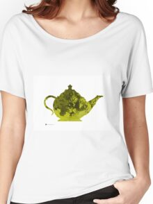 Teapot watercolor art print painting  Women's Relaxed Fit T-Shirt