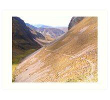 Endless Scree Trail Art Print