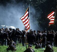 Union line preparing to fire by cascoly