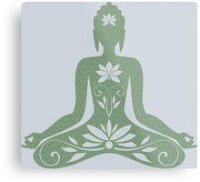 Sitting Buddha in Meditation Yoga  Metal Print