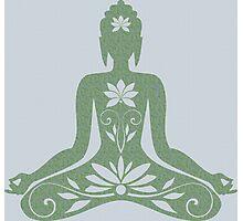 Sitting Buddha in Meditation Yoga  Photographic Print