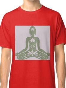 Sitting Buddha in Meditation Yoga  Classic T-Shirt