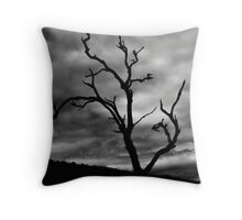 Lone Ghost Tree Throw Pillow