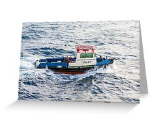 Pilot Boat in Curacao Greeting Card