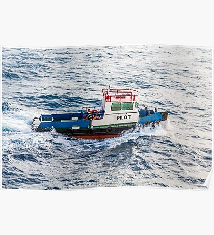Pilot Boat in Curacao Poster