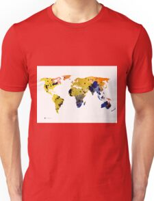 World map silhouette colorful poster T-Shirt