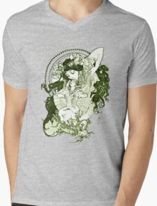 Green vintage goddess Mens V-Neck T-Shirt